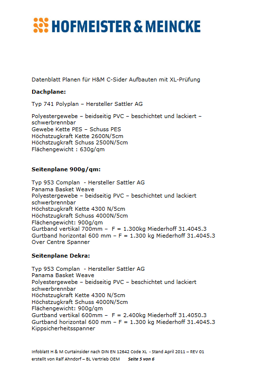 Datenblatt Plane XL