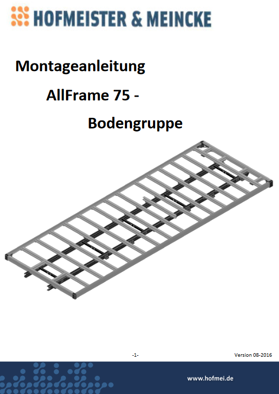 Montageanleitung AllFrame 75 Bodengruppe