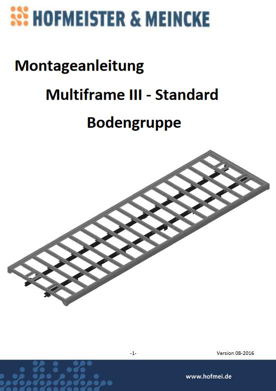 Montageanleitung Multiframe III