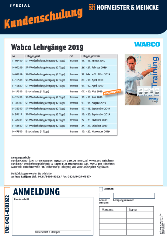 Kundenschulung Wabco